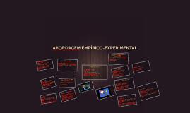 ABORDAGEM EMPÍRICO-EXPERIMENTAL