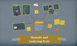 Analyzing Texts and Memoirs