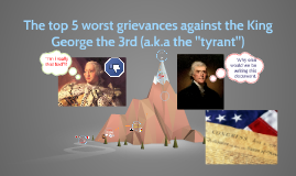 The top 5 worst grievances against the King George the 3rd