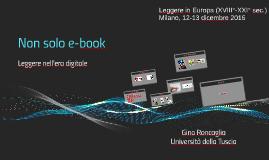 Non solo e-book. Leggere nell'era digitale