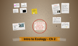 Intro to Ecology - Ch 2