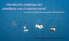 Vinculación temprana del estudiante con el entorno social