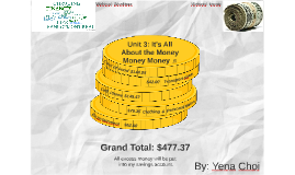 Unit 3: It's All About the Money Money Money ♫