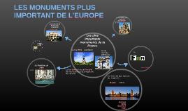 LES MONUMENTS PLUS IMPORTANT DE L'EUROPE