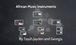 Copy of African Music Instruments