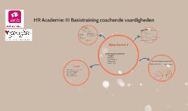 HR Academie: III Basistraining coachende vaardigheden