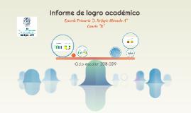 Informe de logro académico