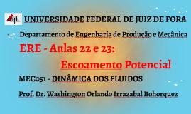 MEC051 - DINÂMICA DOS FLUIDOS - AULA 23 E 24