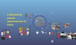 Collezioni di poesia sperimentale in Italia