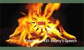 Fahrenheit 451: Beatty's Speech