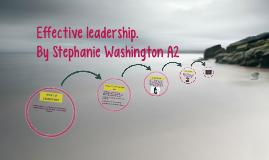 Effective Leadership.
