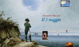 Alessandro Manzoni, IL 5 MAGGIO