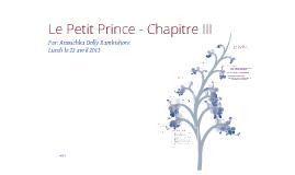 Le Petit Prince Chapitre III