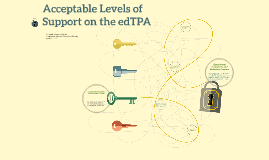 2015 Acceptable Levels of Support on the edTPA