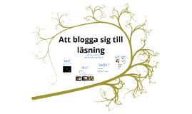 Att blogga sig till läsning