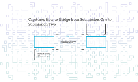 Capstone: How to Bridge from Submission One to Submission Tw