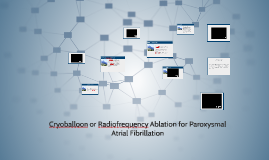 Cryoballoon or Radiofrequency Ablation for Paroxysmal Atrial