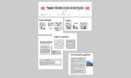 Proponer diseños de investigacion