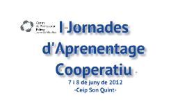 I Jornades d'Aprenentatge Cooperatiu