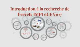 Introduction à la recherche de brevets IMPI 6GEN107
