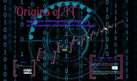 Origins of IT