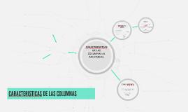 CARACTERISTICAS DE LAS COLUMNAS AL APLICARLES: