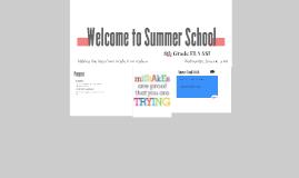 Welcome to Summer School
