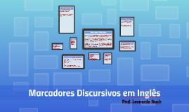 Marcadores Discursivos em Inglês
