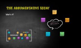 The Argumentatvie Essay