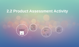 2.2 Product Assessment Activity