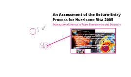 An Assessment of the Return-Entry Process for Hurricane Rita