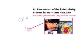 An Assessment of the Return-Entry Process for Hurricane Rita