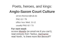 Poets, heroes, and kings: