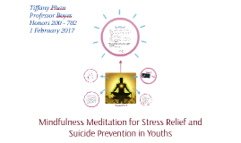 Meditation for Stress Relief and Suicide Prevention in Youth