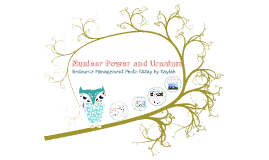 Nuclear Power and Uranium