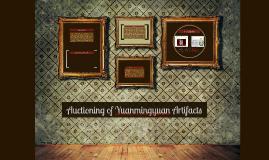 Auctioning of Yuanmingyuan Artifacts
