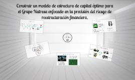Construir un modelo de estructura de capital óptimo para el