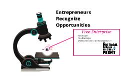 Entrepreneurs Recognize Opportunities