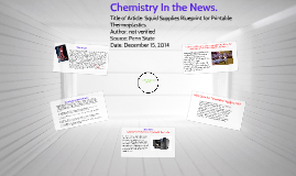 Chemistry In the News.