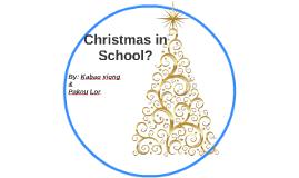 Christmas in School?