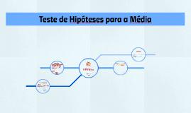 Teste de Hipóteses para a Média