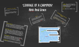 'COURAGE OF A CHAMPION'