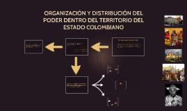ORGANIZACIÓN Y DISTRIBUCIÓN DEL PODER DENTRO DEL TERRITORIO