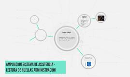 AMPLIACION SISTEMA DE ASISTENCIA - LECTORA DE HUELLAS ADMINI