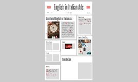 English in Italian Ads