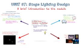 Copy of UNIT 67: Stage Lighting Design