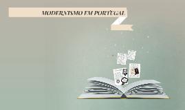 MODERNISMO EM PRTUGAL
