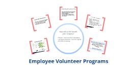 Copy of Employee Volunteer Programs