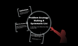 Systematic List Presentation