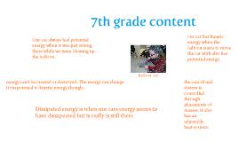 reveiw of 7th grade content